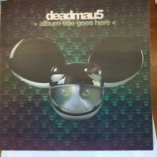 "DEADMAU5 3D/LENTICULAR POSTER ALBUM TITLE GOES HERE 12.5"" X 12.5"""