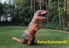 USA Two Fans T-Rex Jurassic Park World Inflatable Costume TRex DINOSAUR Adult