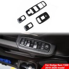 Carbon Fiber Window Lift Trim Switch Panel Cover Trim For Dodge Ram 1500 2019+