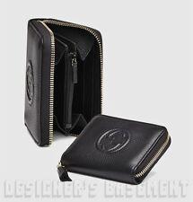 GUCCI black SOHO Leather Interlocking G Zip Around DISCO Mini wallet NIB Authent