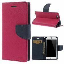 Étui iPhone 6 Plus, Fantaisie COUVERTURE TPU Rabattable Etui Coque , rouge