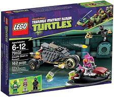 Lego TMNT Turtles 79102 STEALTH SHELL IN PURSUIT Raphael Fishface Foot NISB