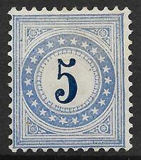 SUISSE : TAXE 5 BLEUE N° 4 NEUF SANS GOMME - TRES FRAIS