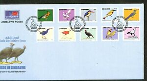 Zimbabwe - 2007 - Scott #1034-1043 - First Day Cover - Birds