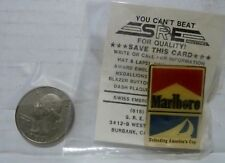 VINTAGE MARLBORO PIN - DEFENDING AMERICA'S CUP WITH CARD - NEW
