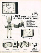 PUBLICITE ADVERTISING 055  1968  JAZ   réveil DATOR TRANSISTOR