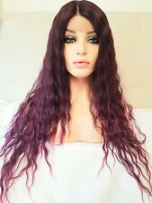 Purple And Red Wig lace front human hair wig