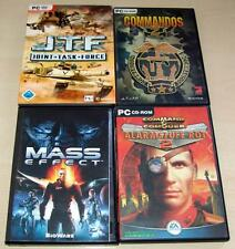 4 PC SPIELE SAMMLUNG MASS EFFECT COMMAND CONQUER ALARMSTUFE ROT COMMANDOS 2 JTF