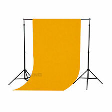 5×10ft/1.5×3M Solid Yellow Seamless FlockedCloth Photography Backdrop Background