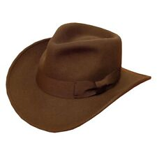 Quality  Gents Cowboy Style Fedora Hat With WIDE RIBON  Band 100% Wool