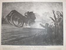 PARIS MADRID motor carrera el delirio de velocidad Louis Renault 1903 impresión J Pennell