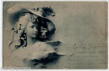 ART NOUVEAU Donnina Cappello Moda Circa 1900 Francia