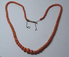 Jugendstil Korallenkette Koralle Coral Necklace Halskette Lachs Kette Nr.303