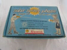 1960 SOLAR SPACE PHONE SET COMPLETE NR MINT IN BOX BY HEAR EVER !!