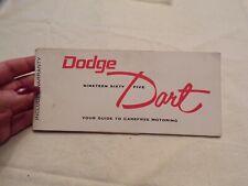 Vtg 1965 Dodge Dart Owners Manual