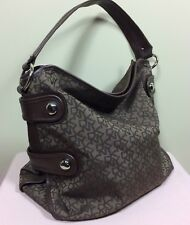 DKNY Damen Tasche Braun Designer Shopper Signature Bag Canvas Tote Schulter