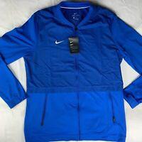 Nike Dri-FIT Sideline Elite Hybrid Blue Full-Zip Jacket 908416-493 Men's L -NWT