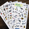 Cute 6 Sheets Portable Cat Album Diary Calendar Sticker Label Scrapbooking Craft