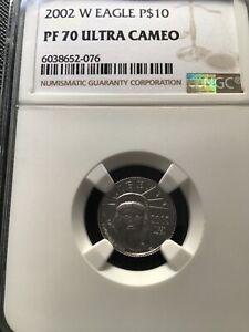 2002 W $10 PROOF PLATINUM EAGLE PF 70 NGC