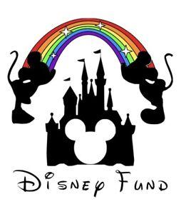 Disney Fund Vinyl Sticker Box Frame Savings Box