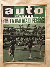 RIVISTA AUTO ITALIANA 14/1964 FERRARI AMI 6 ABARTH A MONZA COPPA GALLENGA