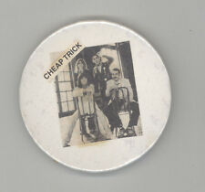 1970s CHEAP TRICK Band BUTTON Pinback PIN Badge MUSIC Rock RICK NIELSEN Illinois