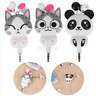 Cute Cat Panda 3.5mm Cartoon Retractable In-Ear Earphones For Phone US