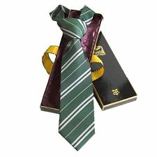 Official Harry Potter Hogwarts Slytherin House Collector's Tie in Display Box