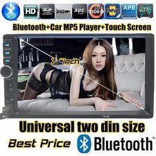 Car Stereo Radio Player 7' Hd Bluetooth 2 Din Head Unit Handsfree Touch Screen