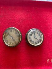 2 Horloge 8 jours montre de tableau de bord automobile ancienne 1920