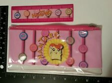 2003 Starpoint Hamtaro Hamster Pink Pencil Case Zipper Pouch & Ruler