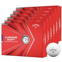 New 2020 Callaway Chrome Soft Golf Balls - 6 Dozen - White