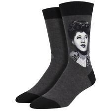 Socksmith Men's Crew Socks Grammy Winner Ella Fitzgerald Grey Novelty Footwear