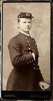 Old Photo Of A Civil War Young Soldier Wearing Uniform Of Confederate Or Union