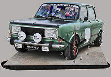 MODEL CARS, SIMCA RALLY 2 -02, car passenger,11,8x 7,8 inches,  with Clock