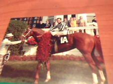 SECRETARIAT CARD, UNIQUE HORSE RACING ITEM