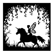 Unicorn & Fairies Decal Decal Vinyl Sticker Box Frame Name Gifts Crafting Girls