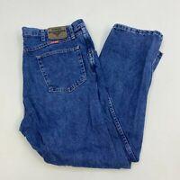 Wrangler Denim Jeans Mens 40X30 Blue Straight Leg Regular Fit Medium Wash Zip Up