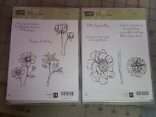 """Stampin Up """"Bloom With Hope""""  Rubber Stamps  #1 & #2"""