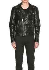 BLK DNM Men's Black Leather Jacket 31 Biker Jacket MKL103 Medium $995 NWOT