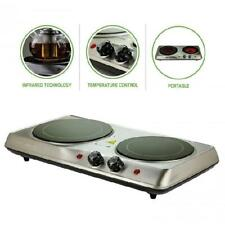 Electric Cooktop Burner Infrared Ceramic Glass Hot Plate 2 Burner Cooking Stove