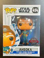 FUNKO POP STAR WARS AHSOKA 414 SPECIAL EDITION EXCLUSIVE / GAMESTOP IN HAND