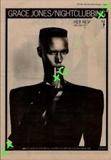 Grace Jones Nightclubbing Advert NME Cutting 1981