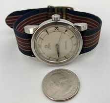 VTG 1954 Omega Seamaster Automatic 17j Stainless Men's Watch Serial# 14041358😱