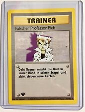 German TRAINER FALSCHER PROFESSOR EICH 1st Edition 73/102 Rare NonHOLO NM/MINT