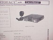 1978 PANASONIC CB RADIO SERVICE SHOP MANUAL MODEL RJ-3250
