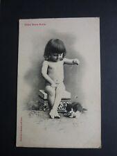 FANTAISIES Enfant  old postcard vintage fantasy bebés chaton jeu amis Bergeret