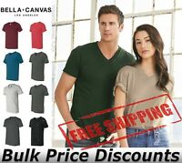 Bella + Canvas Unisex Short Sleeve V-Neck Jersey Tee Shirt Blank 3005 up to 3XL