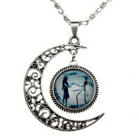 Stylish Charm Crescent Moon Necklace Nightmare Necklace WHT