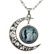 Stylish Charm Crescent Moon Necklace Nightmare Before Christmas Neckl Nueca